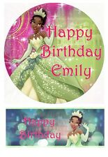 Disney Tiana Princess and the Frog Personalized Edible Cake toppers Precut