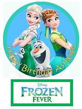 Disney Frozen Fever Personalized Edible Cake toppers 7 Inch cupcakes Precut