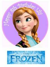 Disney Frozen Anna Personalized Edible Cake toppers 7 Inch cupcakes Precut