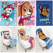 PAW PATROL FLEECE BLANKETS SKYE CHASE MARSHALL NEW CHILDRENS OFFICIAL