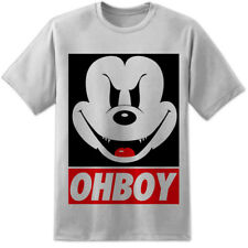 Mickey Mouse OHBOY / OBEY Style T Shirt Evil Disney Minnie They Live S-3XL GREY