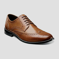 Nunn Bush Nelson #84525-221 Men's Wingtip Oxford Brogue Leather Shoes. Tan