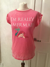 NEW DISNEY LITTLE MERMAID–ARIEL 'I'M REALLY A MERMAID' CHARACTER BURNOUT T-SHIRT