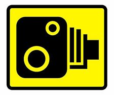 Speed Camera Yellow Road Traffic Warning Sign Self Adhesive Sticker