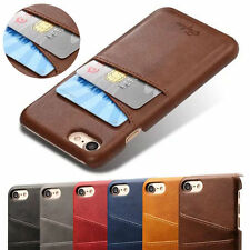 For iPhone XS MAX XR 6s 7 8 Plus Leather Card Holder Protector Wallet Case Cover