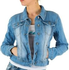 GIUBBINO GIACCA JACKET JEANS DONNA CORTO STRETCH DENIM  BOTTONI