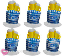 OKTOBERFEST BEER STEIN HAT ADULT BAVARIAN FESTIVAL FANCY DRESS CHOOSE PACK SIZE