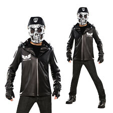 Christys Dress Up Childs Bad To The Bone Skeleton Biker Halloween Fancy Costume
