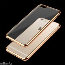 Transparent Soft Back Cover Case with Colored Border Apple iPhone 5 5G 5S