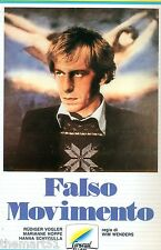 Falso movimento (1974) VHS General Video 1a Ed.Hanna Schygulla, Nastassja Kynsky