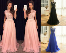 New Lace Applique Evening Cocktail Prom Gowns Party Formal Cocktail Dresses