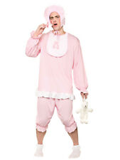 Adult Funny Sleepsuit Sleep Pink Romper Cry Baby Grow Stag Fancy Dress Costume