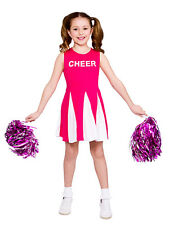 Girls Cheerleader Costume Hot Pink Child Fancy Dress Kids High School Outfit New