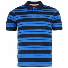 Slazenger Pique Yarn Dye Polo Shirt Mens Navy/Blue Top T-Shirt Tee