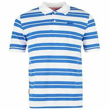 Slazenger Pique Yarn Dye Polo Shirt Mens White Top T-Shirt Tee