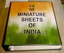 India 1973 - 2015 Miniature Sheets Printed Album GGS with Images Acid Free Paper