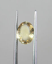 Beautiful Certified Natural 3.35 Cts Yellow Topaz / Citrine Oval Shape ND-20