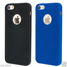 Luxury Weave Mesh Pattern Soft Silicone Back Cover For Apple iPhone 5 / 5S / SE