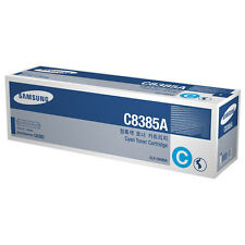 GENUINE SAMSUNG CLX-C8385A (C8385A) CYAN ORIGINAL LASER PRINTER TONER CARTRIDGE