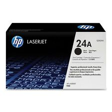 GENUINE HP HEWLETT PACKARD Q2624A /  24A BLACK LASER PRINTER TONER CARTRIDGE