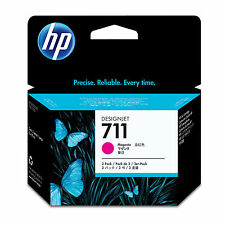 GENUINE OEM HP HEWLETT PACKARD MAGENTA 3 CARTRIDGE MULTIPACK - HP 711 / CZ135A