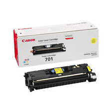 GENUINE CANON 701 / CRG-701Y / 9284A003AA YELLOW LASER PRINTER TONER CARTRIDGE