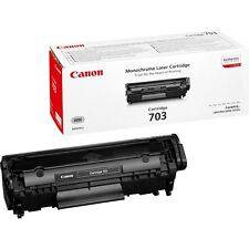 GENUINE CANON 703 / CRG-703Bk / 7616A005AA BLACK LASER PRINTER TONER CARTRIDGE