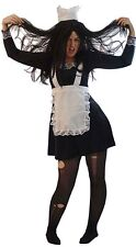 f13a7588d3e84 HALLOWEEN/ROCKY HORROR/Fancy Dress/Maid/Magenta MAD MAID Ladies Costume