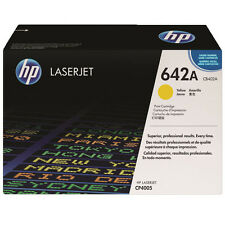 GENUINE HP HEWLETT PACKARD CB402A / 642A YELLOW LASER PRINTER TONER CARTRIDGE