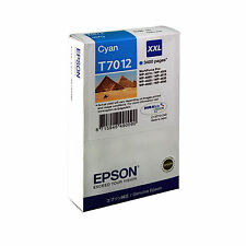 GENUINE EPSON XXL CYAN EXTRA HIGH CAPACITY INK CARTRIDGE - T7012 / C13T70124010