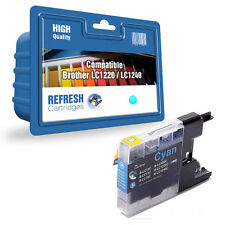 1 COMPATIBLE BROTHER DCP MFC CYAN (BLUE) PRINTER INK CARTRIDGE LC1220 / LC1240