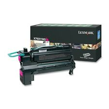 LEXMARK X792X1MG MAGENTA EXTRA HI CAPACITY RETURN PROGRAM LASER TONER CARTRIDGE