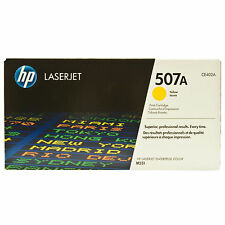 GENUINE HP HEWLETT PACKARD CE402A / 507A YELLOW LASER PRINTER TONER CARTRIDGE