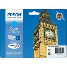 GENUINE EPSON BIG BEN SERIES CYAN PRINTER INK CARTRIDGE T7032 (C13T70324010)