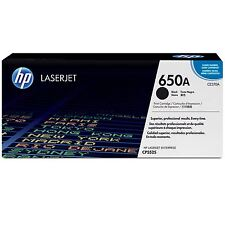 GENUINE HP HEWLETT PACKARD CE270A / 650A BLACK LASER PRINTER TONER CARTRIDGE