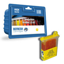 COMPATIBLE BROTHER LC-02Y YELLOW PRINTER INK CARTRIDGE (LC-02 SERIES)