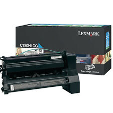 GENUINE LEXMARK C780H1CG CYAN HIGH CAPACITY RETURN PROGRAMME TONER CARTRIDGE