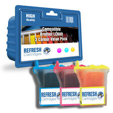 COMPATIBLE BROTHER LC600 C/M/Y INK CARTRIDGES - 3 COLOUR CARTRIDGE VALUE PACK