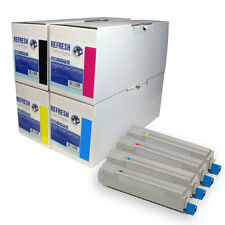 REMANUFACTURED OKI C8600 C8800 LASER PRINTER TONER CARTRIDGES 43487709/10/11/12