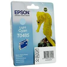 GENUINE EPSON SEA HORSE SERIES LIGHT CYAN INK CARTRIDGE T0485 - C13T04854010