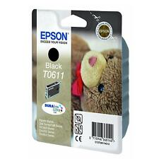 GENUINE EPSON TEDDY BEAR SERIES DURABRITE BLACK INK CARTRIDGE T0611 C13T06114010