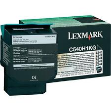 GENUINE LEXMARK C540H1KG / C540 BLACK HIGH CAPACITY LASER TONER CARTRIDGE