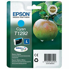 GENUINE EPSON APPLE SERIES CYAN PRINTER INK CARTRIDGE C13T12924010 / T1292