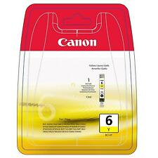GENUINE OEM CANON BCI-6Y YELLOW PRINTER INK CARTRIDGE / 13ML CAPACITY/ 440 PAGES