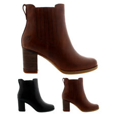 Womens Timberland Atlantic Heights Winter Leather Mid Heel Ankle Boots UK 3-9