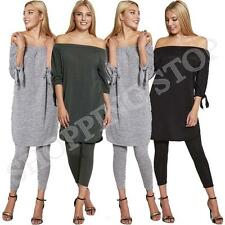 Fashion WOMENS LADIES OFF THE SHOULDER BARDOT SEXY JUMPSUIT DRESS SHIRT UK SIZE