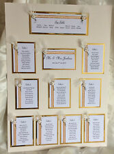 Wedding Stationery 50 Guest Table Plan, Table Numbers, Place card, Feather Rose