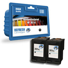 Refresh Cartuchos 2 Pack de Negro 301XL Tinta Compatible con hp Impresoras