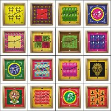 iberrys - Diwali Collection Diwali Home Decor Gift Wooden Wall Clock
