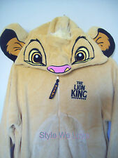 Ladies DISNEY SIMBA the LION KING ONESIE All in One Pyjamas Costume 10 12 14 16